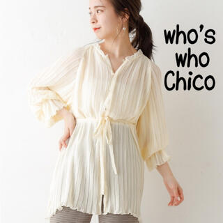 who's who Chico - who's who chico プリーツブラウス