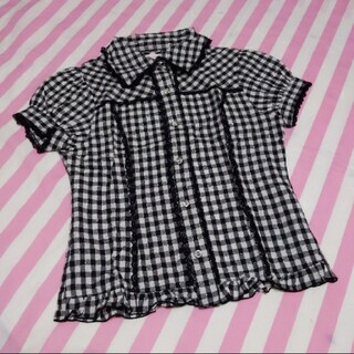 トゥララ(TRALALA)のトゥララ チェックシャツ(シャツ/ブラウス(半袖/袖なし))