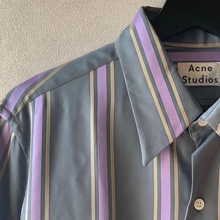 アクネ(ACNE)のacne studious ストライプシャツ 17aw 46(シャツ)
