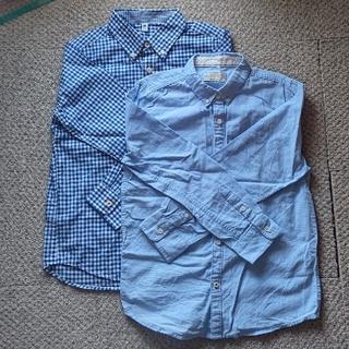 ザラキッズ(ZARA KIDS)のユニクロ、ZARA BOYS 140cm 長袖  シャツ 2枚(ブラウス)