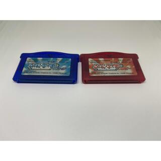 ゲームボーイアドバンス(ゲームボーイアドバンス)のポケモン ルビー サファイア セット(携帯用ゲームソフト)