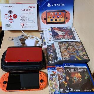 ニンテンドー3DS(ニンテンドー3DS)の【カセット付き】 PlayStation Vita&ニンテンドー3DS LL (携帯用ゲームソフト)