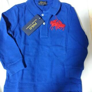ポロラルフローレン(POLO RALPH LAUREN)の90cm24M新品Poloラルフローレン長袖ポロシャツブルー(Tシャツ/カットソー)
