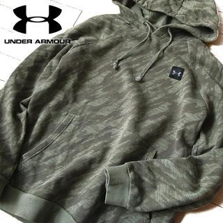 UNDER ARMOUR - 美品 M アンダーアーマー レディース パーカー グリーン系
