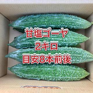 【鹿児島産】甘塩ゴーヤ箱込み2キロ^_^(野菜)