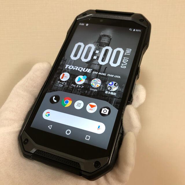 京セラ(キョウセラ)のau TORQUE G04 KYV46 Black  SIMロック解除済 スマホ/家電/カメラのスマートフォン/携帯電話(スマートフォン本体)の商品写真