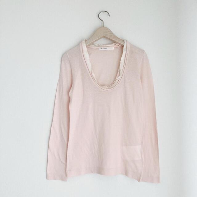 sacai luck(サカイラック)のsacai luck サカイラック 異素材カットソー ピンク レディースのトップス(カットソー(長袖/七分))の商品写真
