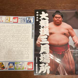 大相撲三月場所 パンフレット(相撲/武道)