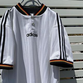 アディダス(adidas)の90's adidas ストライプ入り生地 XLサイズ ゲームシャツ(シャツ)