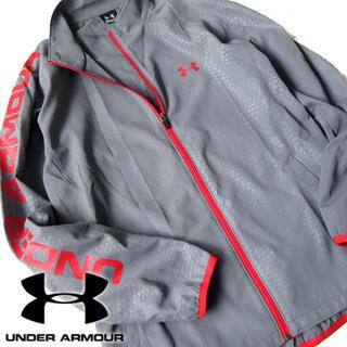 UNDER ARMOUR - 超美品 L アンダーアーマー メンズ ロゴスリーブジャケット グレー