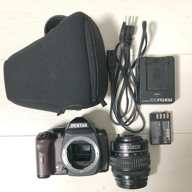 PENTAX(ペンタックス)の《値下げ!》PENTAX ペンタックス 一眼レフ カメラ k-r  茶×ブラック スマホ/家電/カメラのカメラ(デジタル一眼)の商品写真