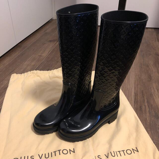 LOUIS VUITTON - 美品!正規品!ルイヴィトンレインブーツ長靴37