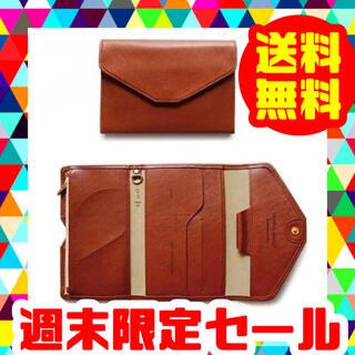 パスポートケース カバー ポーチ トラベル ケース カードホルダー レザー 革(旅行用品)