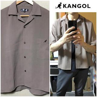 KANGOL - KANGOL半袖シャツ ポリエステルシャツメンズベージュシャツグレーシャツ