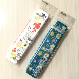 ミッキーマウス(ミッキーマウス)の[新品 未開封]  ミッキー 箸スプーンセット *2種類*(弁当用品)