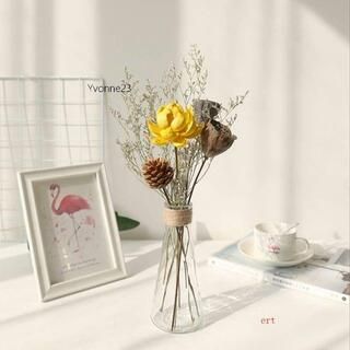 枯れない花 プリザーブドフラワー ドライフラワー 北欧 置物 花瓶付き 松かさ(ドライフラワー)