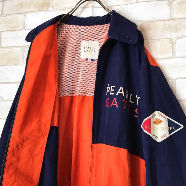 PEARLY GATES(パーリーゲイツ)の古着美品PEARLYGATESナイロンジャケットパーカーM メンズのジャケット/アウター(ナイロンジャケット)の商品写真