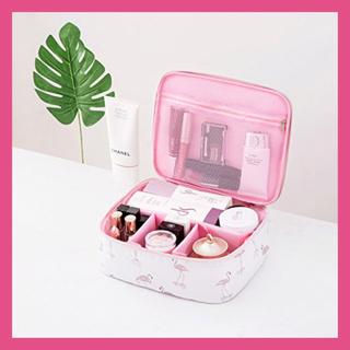 化粧ポーチ 化粧バッグ メイクボックス 収納ケース メイクブラシバッグ 大容量(メイクボックス)