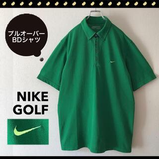 ナイキ(NIKE)のNIKE GOLF★ハーフボタン★プルオーバー★鹿の子BDシャツ★サイズXL(シャツ)
