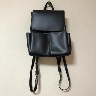 シマムラ(しまむら)の美品♡プチプラのあや リュック 黒 ハッピーバッグ(リュック/バックパック)