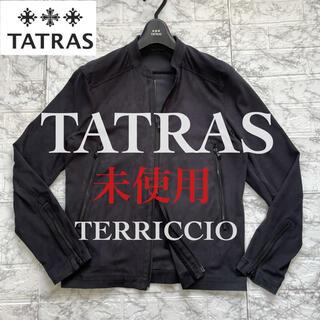 TATRAS - ◆美品◆TATRAS  希少 スエードシングルライダース / 01 BLACK