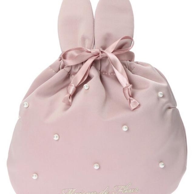Maison de FLEUR(メゾンドフルール)のMadison de FLEUR Easter》ラビットパール巾着 ピンク レディースのファッション小物(ポーチ)の商品写真