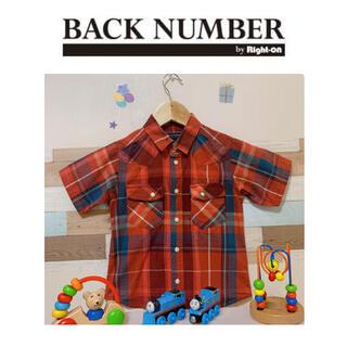 バックナンバー(BACK NUMBER)のRight-on 赤チェックシャツ 110㎝(Tシャツ/カットソー)