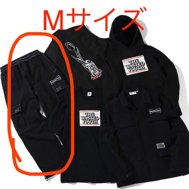 GDC(ジーディーシー)のwasted youth black eye patch カーゴパンツ Mサイズ メンズのパンツ(ワークパンツ/カーゴパンツ)の商品写真