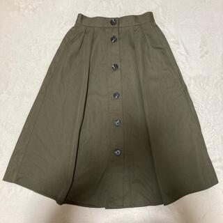 GU - 【GU】カーキ ボタンスカート 膝下丈 sサイズ