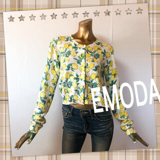 EMODA - EMODA ♥ レモン 檸檬 ショート カーディガン