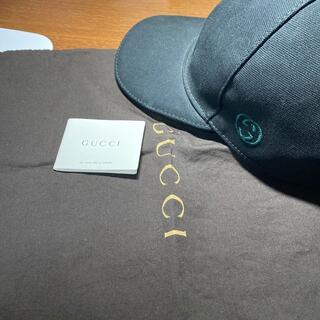 Gucci - 美品 GUCCI グッチ キャップ 黒 メンズ ブラック 男性用