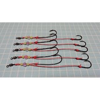 お試し価格 遊動テンヤ 替え針 5セット フッ素コート NSブラック(釣り糸/ライン)