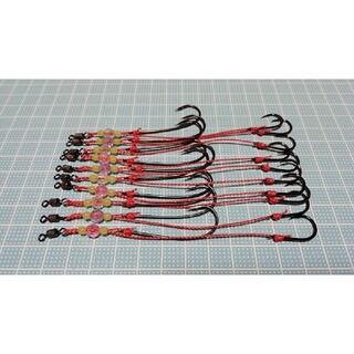 お試し価格 遊動テンヤ 替え針 10セット フッ素コート NSブラック(釣り糸/ライン)