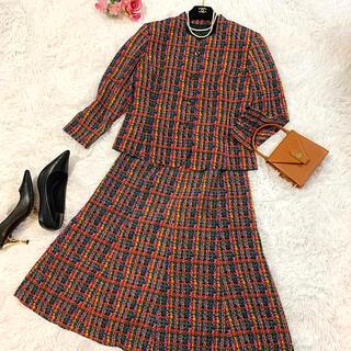 アナイ(ANAYI)の♡極美品・希少♡オリビア スカートスーツ セットアップ マルチカラー 日本製(スーツ)