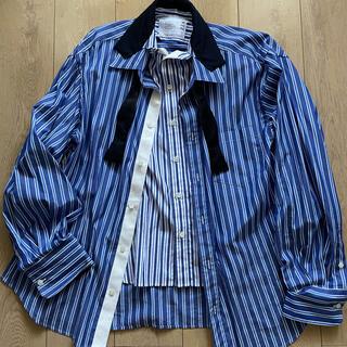 sacai - SACAI 20SS ボウタイ ドッキングシャツ
