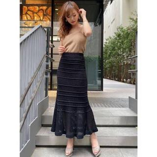 RESEXXY - RESEXXY 鈎針風 ニットマキシ スカート
