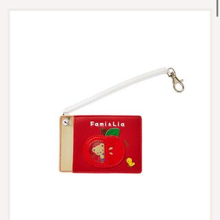 ファミリア(familiar)の新品・未開封 ファミリア パスケース 赤色 RED(キャラクターグッズ)