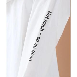 フレームワーク(FRAMeWORK)のFRAMeWORK SLEEVE PRINT Tシャツ(Tシャツ/カットソー(七分/長袖))