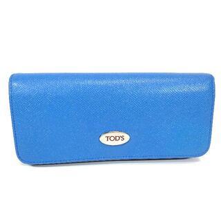 トッズ(TOD'S)の【美品】トッズ レザー カード多収納 長財布 ブルー(財布)