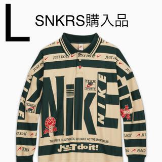 ナイキ(NIKE)のL 送料込み Nike CPFM Longsleeve Polo Natural(ポロシャツ)