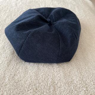 CA4LA - 《春夏》 ベレー帽 麻100% ネイビー