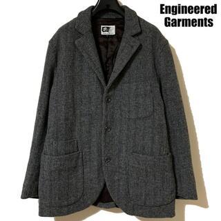 エンジニアードガーメンツ(Engineered Garments)のエンジニアードガーメンツ ペイズリー 中綿 ウール ストライプ ジャケット S(テーラードジャケット)