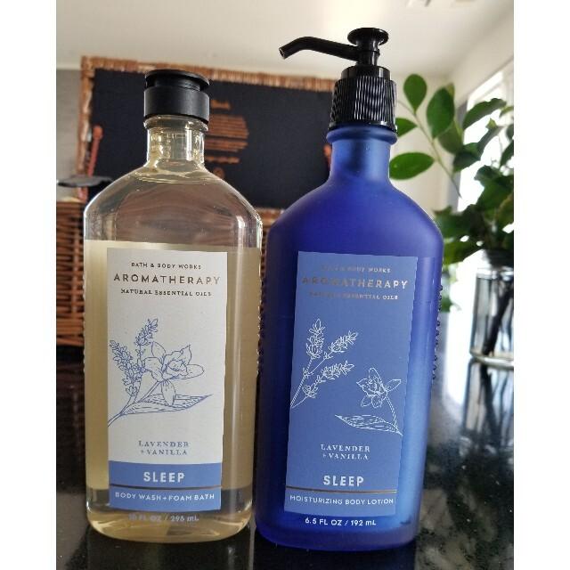 Bath & Body Works(バスアンドボディーワークス)のBATH AND BODY WORKS ラベンダーバニラセット コスメ/美容のボディケア(ボディローション/ミルク)の商品写真