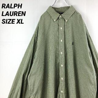 Ralph Lauren - 90'sVINTAGE ラルフローレンBLAKE長袖チェックボタンダウンシャツ