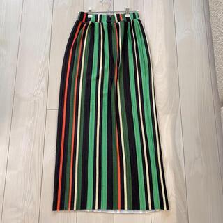 ZARA - ZARA ザラ グリーン ストライプ ロングスカート