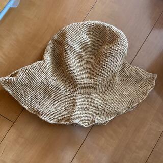 ザラ(ZARA)の新品 ザラ ストローハット 麦わら帽子(麦わら帽子/ストローハット)