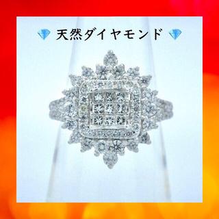 豪華❗️ 計1.00ct❗️ダイヤモンド k18 ホワイトゴールド リング 指輪(リング(指輪))