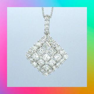 新品❗️Pt900 プラチナ ダイヤモンド 1ct ペンダント ネックレス (ネックレス)
