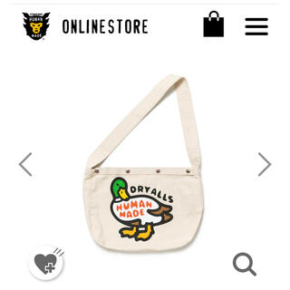 A BATHING APE - HUMAN MADE DUCK PAPERBOY BAG