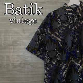 アメリヴィンテージ(Ameri VINTAGE)のアロハシャツ ビンテージ ホリゾンタル パターン 90's  総柄 半袖 シャツ(シャツ)